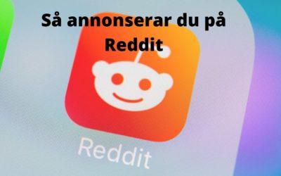 Så gör man för att annonsera på Reddit