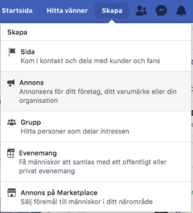 Facebook ads manager skapa