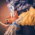 Electrician with Electric Cable