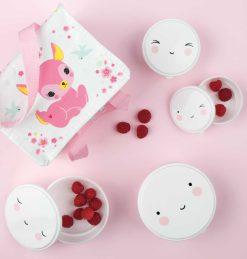 A Little Lovely Company Snack box set: Happy face