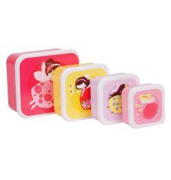 A Little Lovely Company Lunch & snack box set: Feetje