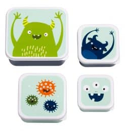 A Little Lovely Company Lunch & snack box set: Monsters