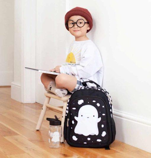 A Little Lovely Company rugzak Spookje 13L zwart