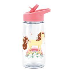 A Little Lovely Company drinkfles Paard meisjes 450 ml roze