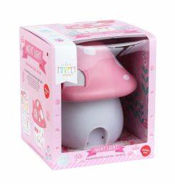 A Little Lovely Company nachtlamp Paddenstoel 19 cm roze
