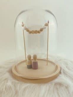 Stolp voor houten poppetjes 'Huwelijk'