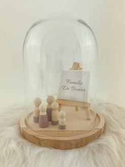 Stolp voor houten poppetjes met schildersezeltje