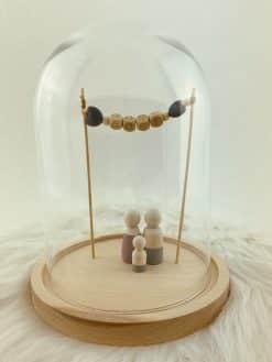 Stolp voor houten poppetjes naamslinger jongen