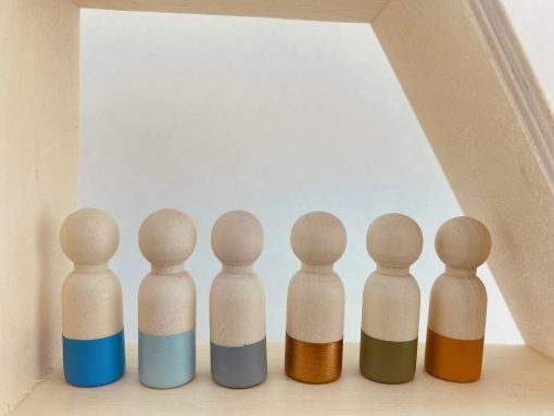 Houten poppetje mannelijk - kleuren