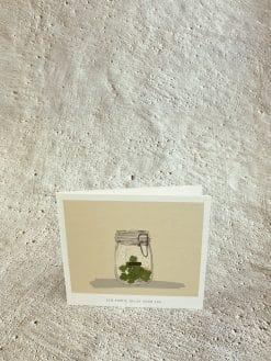Wenskaart KM025 - Een portie geluk voor jou