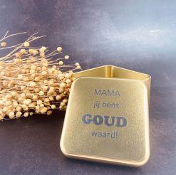 Metalen doosje - Mama jij bent goud waard