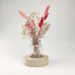 Vaasje met droogbloemen - Roanne