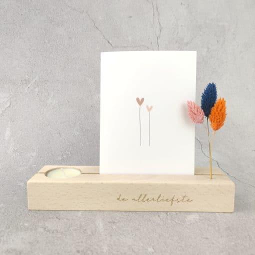 Memory shelf met theelichtje - Colorful