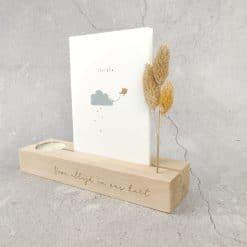Memory shelf met theelichtje - Natural