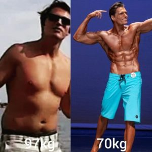 Picture of fitness transformation of shreddah