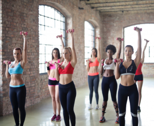 picture of women training
