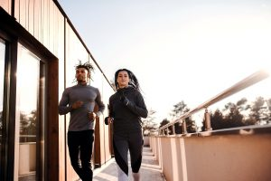picture of a couple running