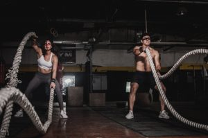 picture of couple training with ropes