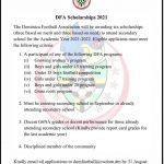 DFA Scholarships 2021