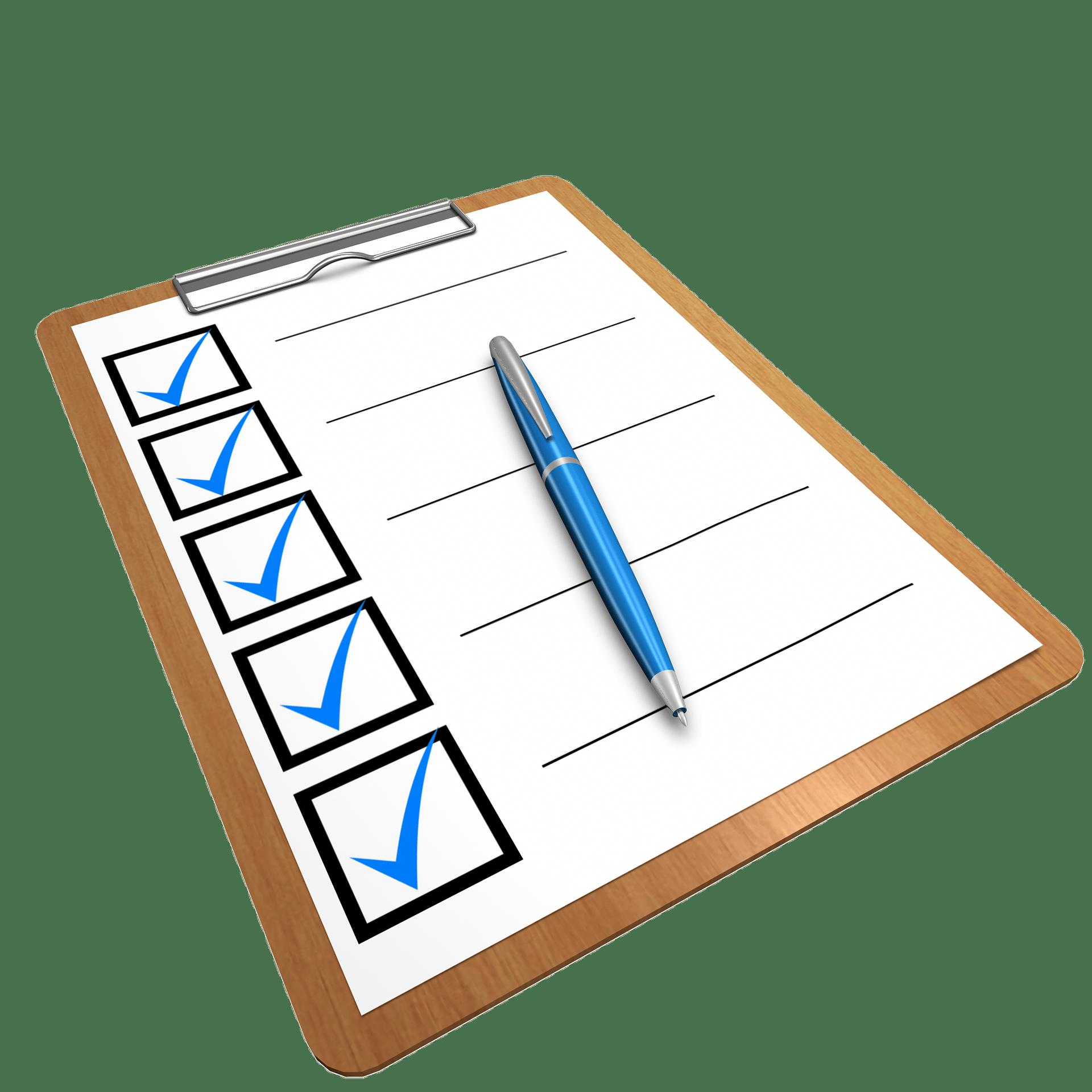 checklist formulier