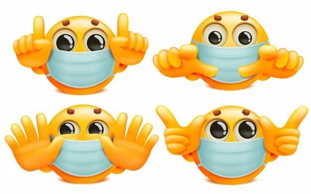 Emoji's met mondmaskers