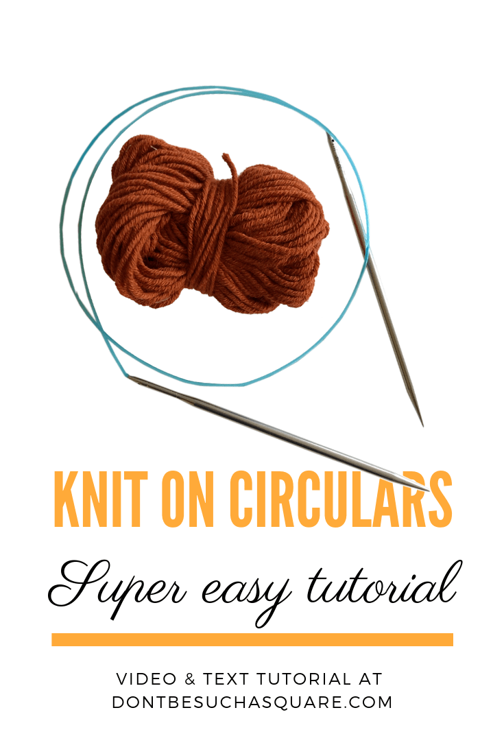 Circular Knitting Needles Tutorial. Please pin this post on pinterest!