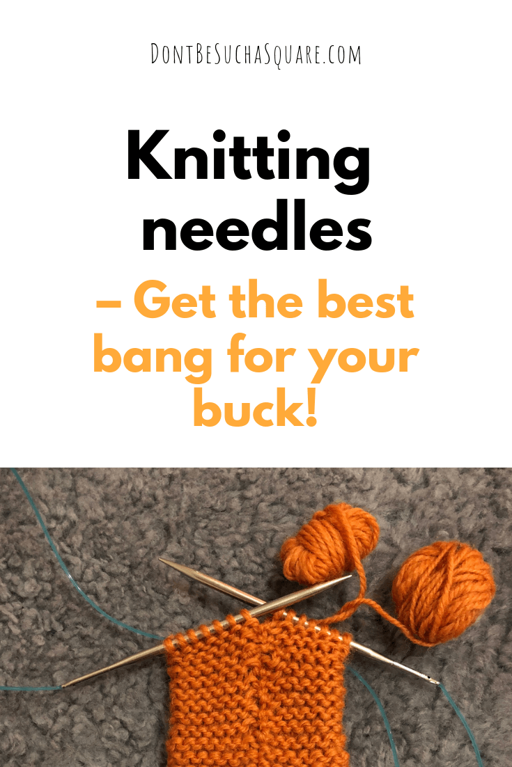 Interchangeable knitting needles a post from Don't Be Such a Square | Are HiyaHiya knitting needles worth the money? Please pin this image to Pinterest!