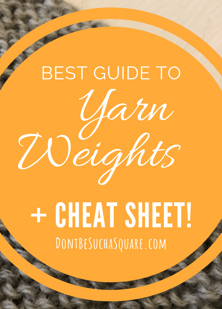 Graphic with text: Best guide to yarn weights