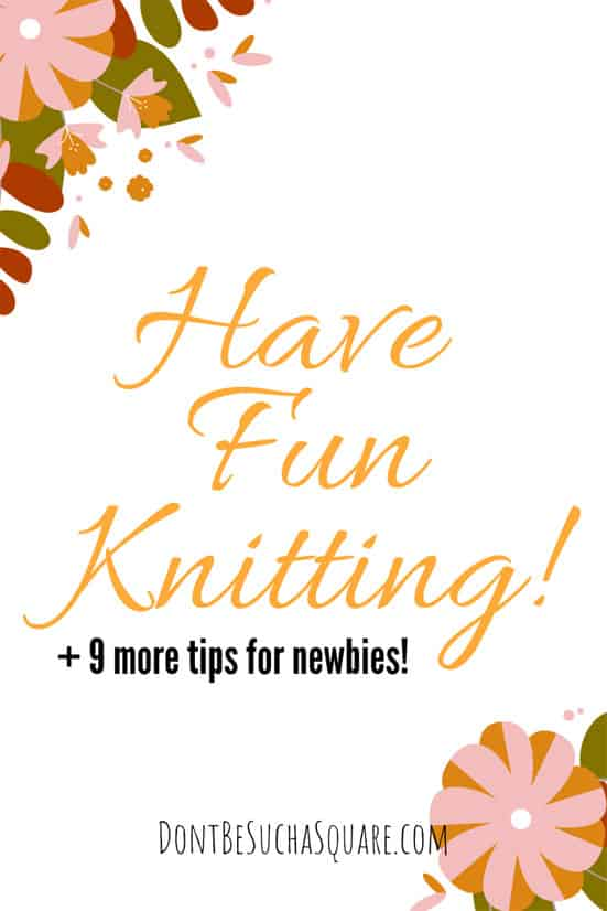 """Knitting Tips for Beginners 