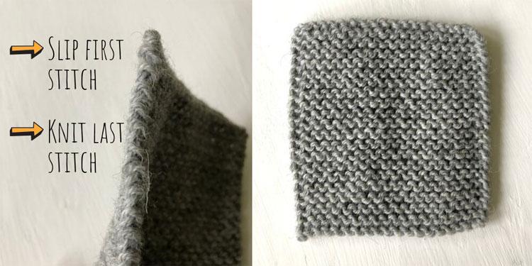 Knitting neat edges – slipping stitches