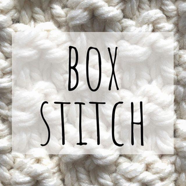 Box stitch knitting pattern