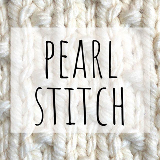 Pearl stitch knitting pattern
