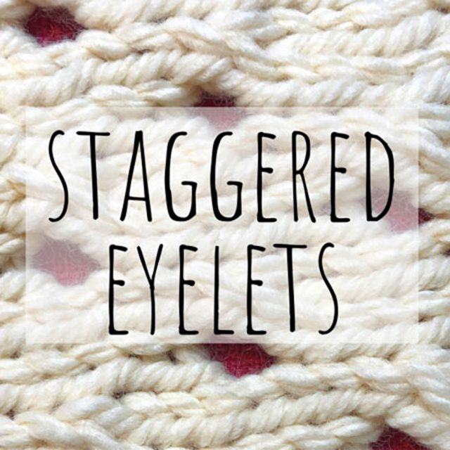 Staggered eyelets knitting pattern