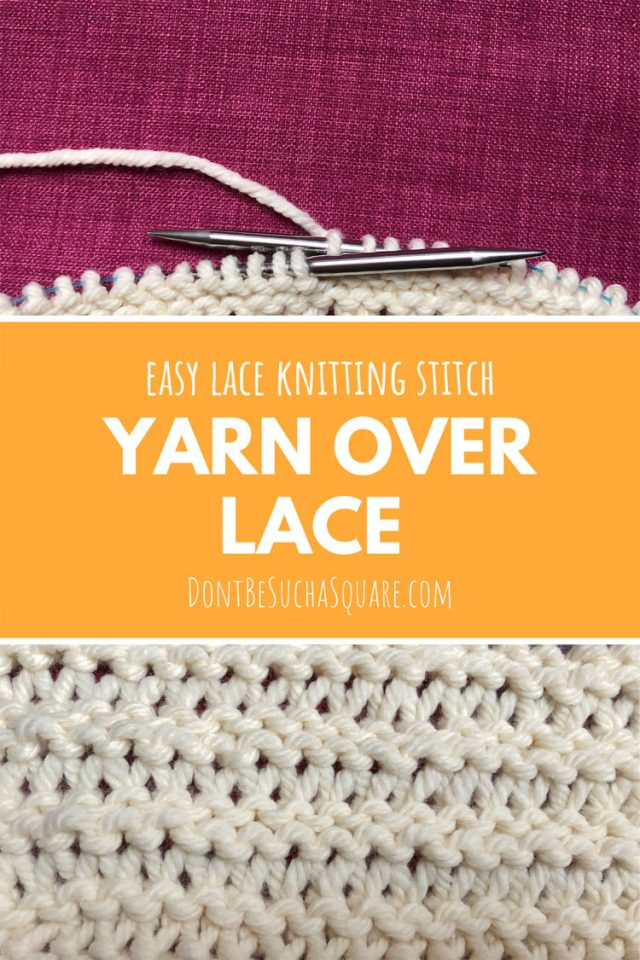 Yarn over lace stitch