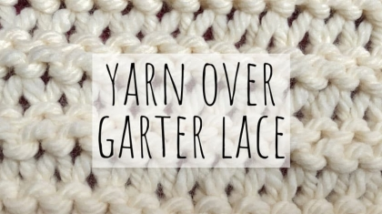 Yarn-over-garter-lace-top