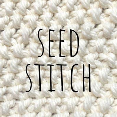 Seed stitch knitting pattern