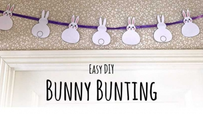 Easy DIY Bunny Bunting for Spring and Easter