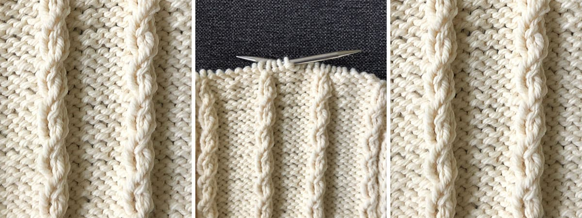 How to knit the easiest mock cable knitting stitch