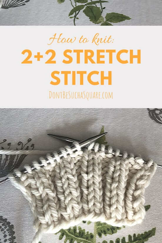 2+2 ribbing knit stitch