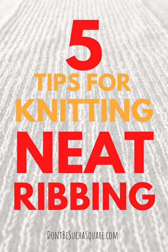 graphic: 5 tips for neat ribbing