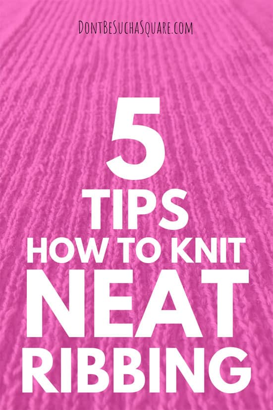 graphic 5 tips for neat ribbing