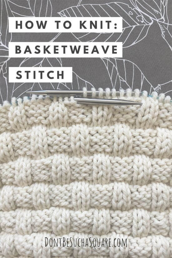 How to knit the basketweave stitch