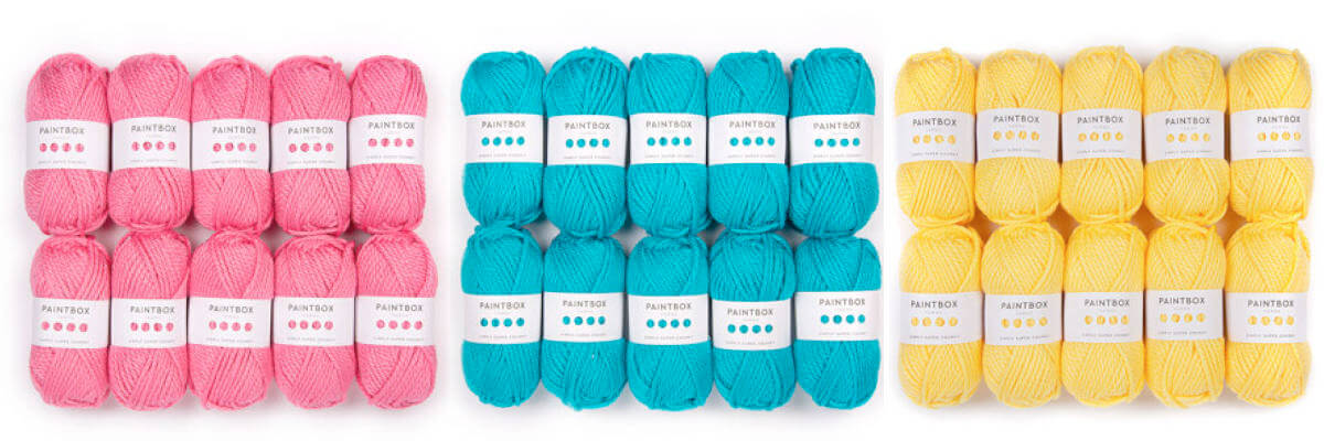Paintbox Yarns Simply Super Chunky is an example of Super Bulky yarn.