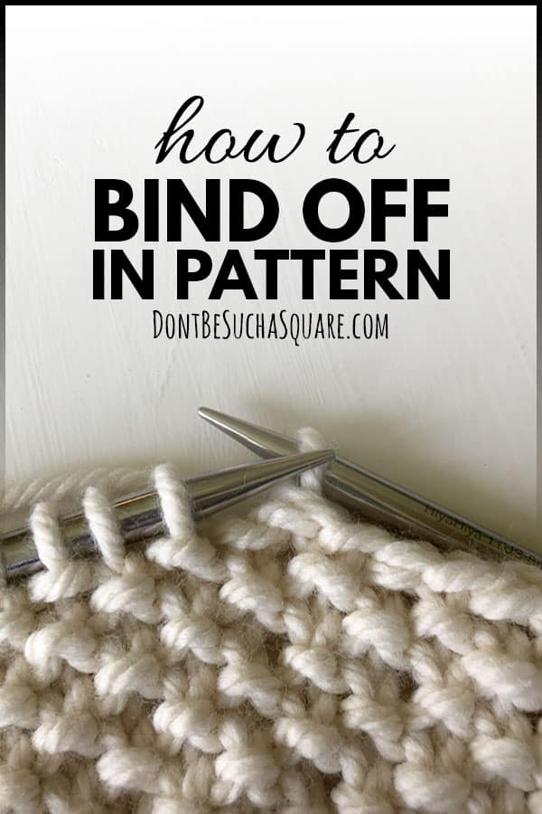 How to bind off knitting in pattern