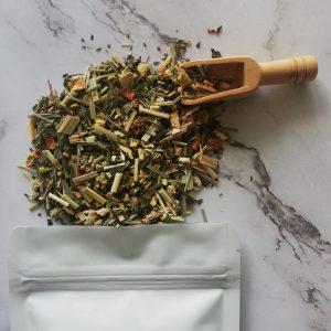 Fresh mint digest infusion