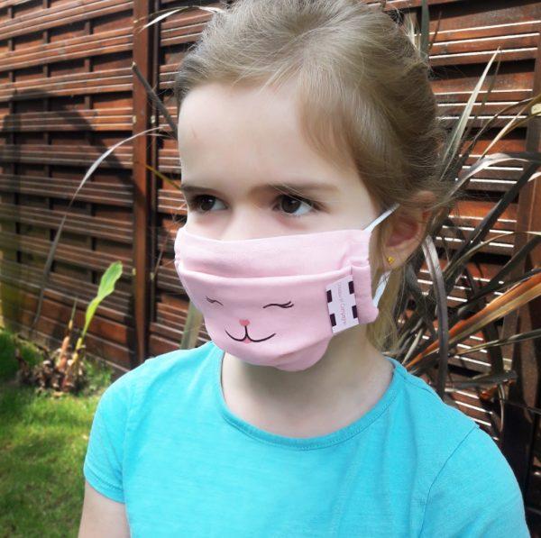 masque-enfant-lavable-rose