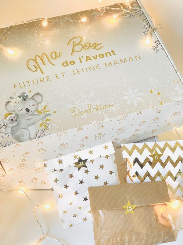 box-calendrier-avent-grossesse-bébé-dorlotine