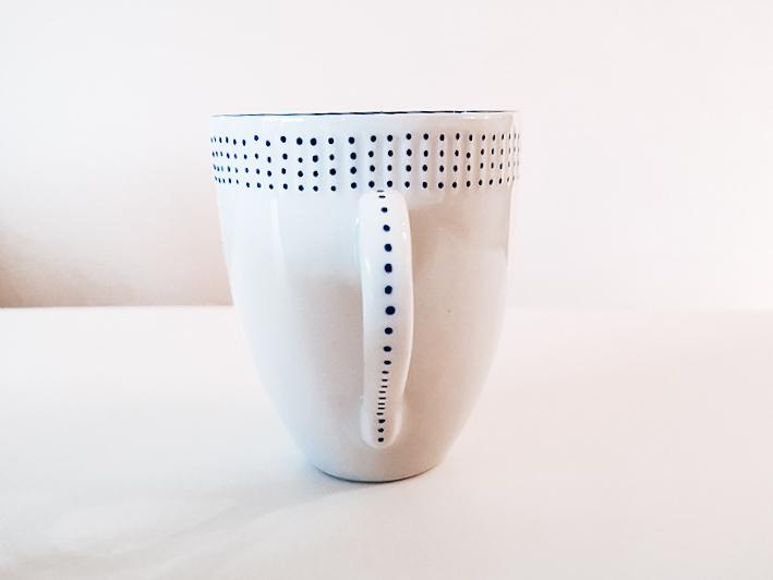 Handmalet porcelæn med tusch