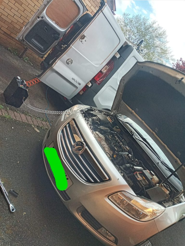Vauxhall insignia Mobile DPF cleaning process in Birmingham