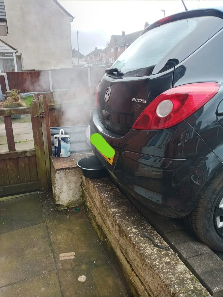 Vauxhall Corsa Mobile DPF cleaning process in Birmingham